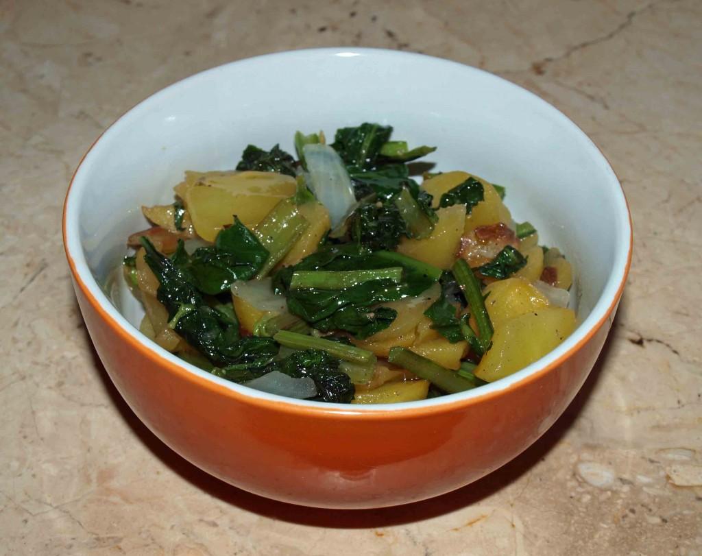 """Bratkartoffeln mit Mangold """"sardische Art"""" vegan kochen"""