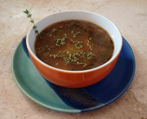 Kartoffel-Pilzsuppe mit feiner Thymian-Note vegan kochen