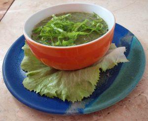 Kartoffel-Salatsuppe vegan kochen