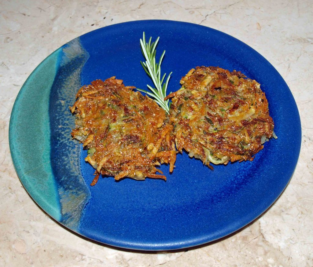 Kartoffel-Zucchini Rösti vegan kochen