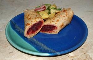 Pfannkuchen mit Rote-Bete Füllung raffiniert vegan kochen
