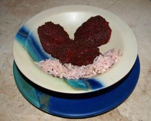 Rote-Bete Polenta Taler vegan kochen