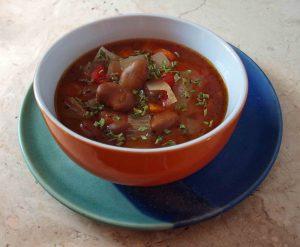 (Sau-)Bohnensuppe mediterrane Art vegan kochen