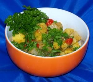 Kartoffel Rübchen Gemüse mit Bohnen