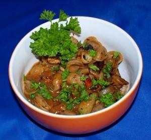 Nudeln mit Kohlrabi Pilze Gemüse vegan kochen