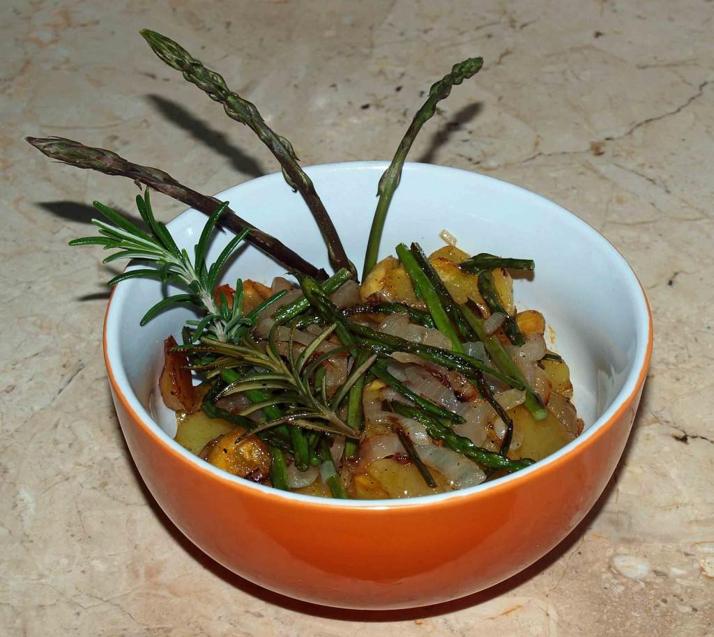 Wildspargel mit Kartoffeln vegan kochen
