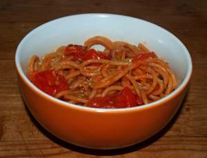 spaghetti al pomodore vegan kochen